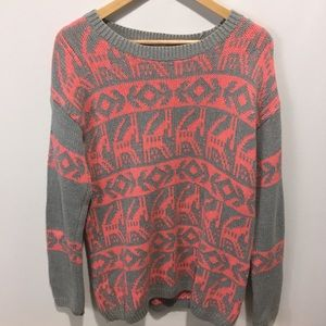 Forever 21 crew neck knit sweater. Large